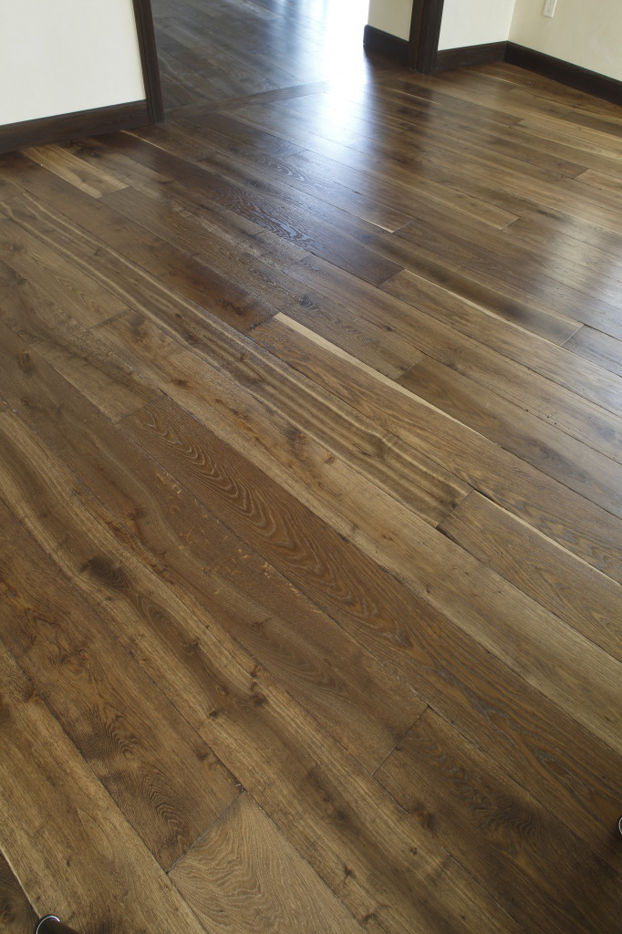 "BHRL-057-1 Tumbled European Oak 7"" Wide Glitsa Urethane"